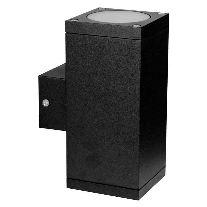 Kube IP65 Commercial Grade Exterior Up / Down Wall Light, Black