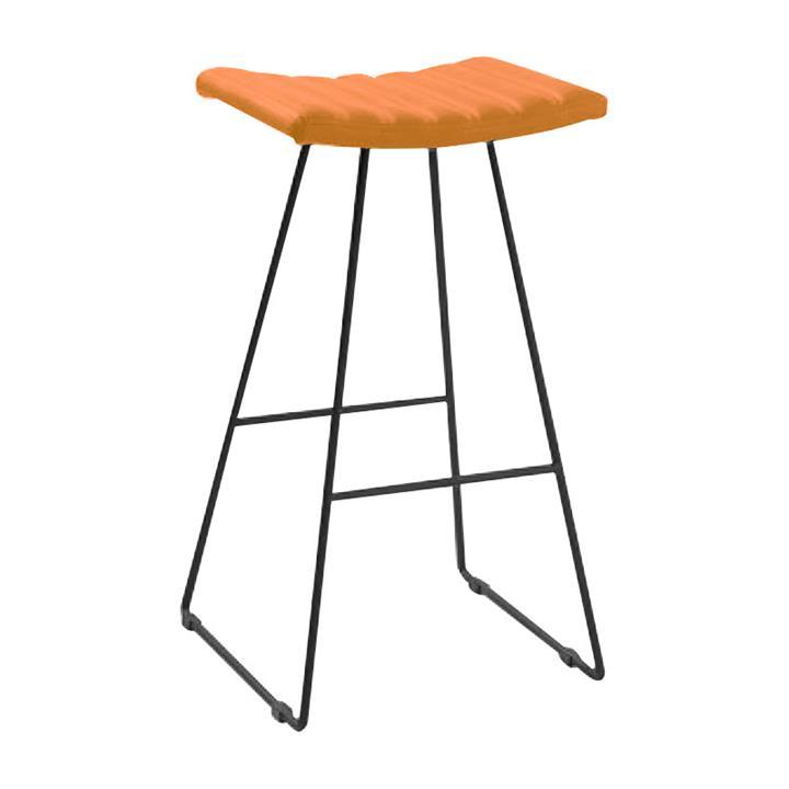Bob PU Leather Counter Stool, Black / Orange
