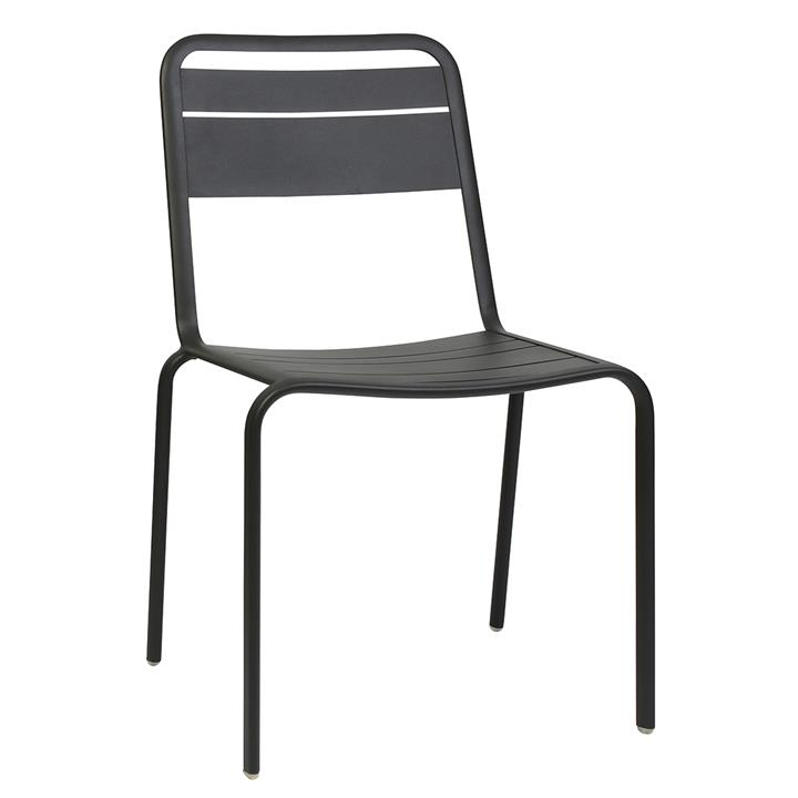 Lameretta Commercial Grade Aluminium Indoor / Outdoor Dining Chair, Anthracite