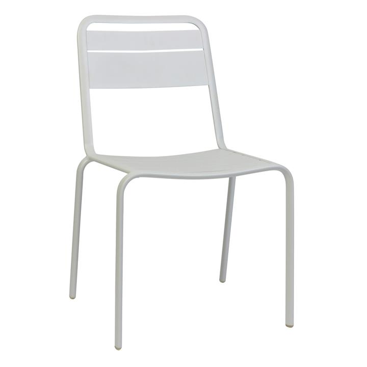 Lameretta Commercial Grade Aluminium Indoor / Outdoor Dining Chair, White