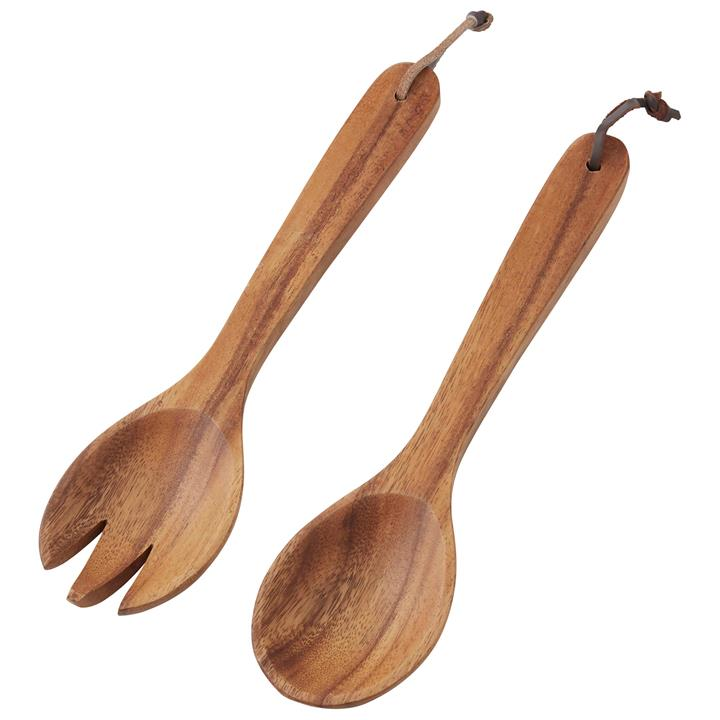 Davis  Waddell 2 Piece Acacia Timber Salad Server Set
