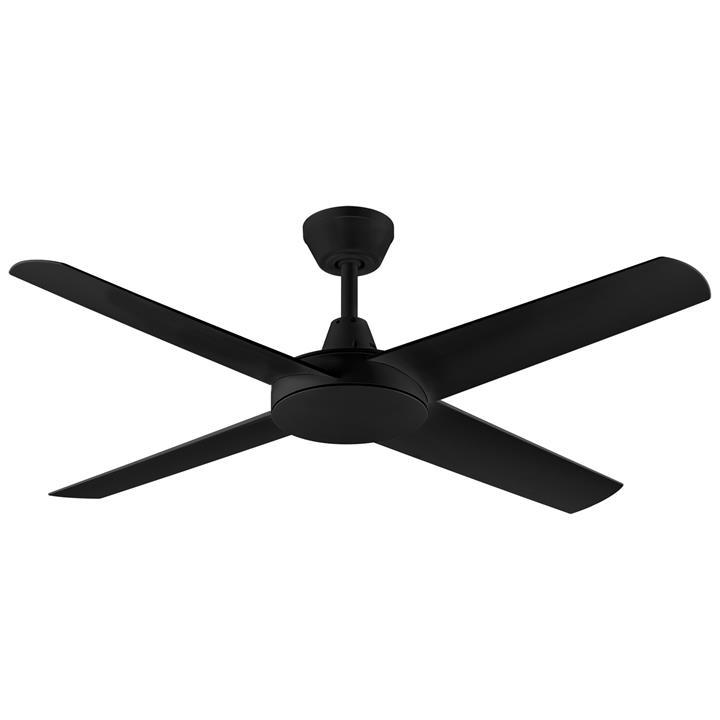 """Threesixty Aspire Ceiling Fan, 132cm/52"""", Black"""
