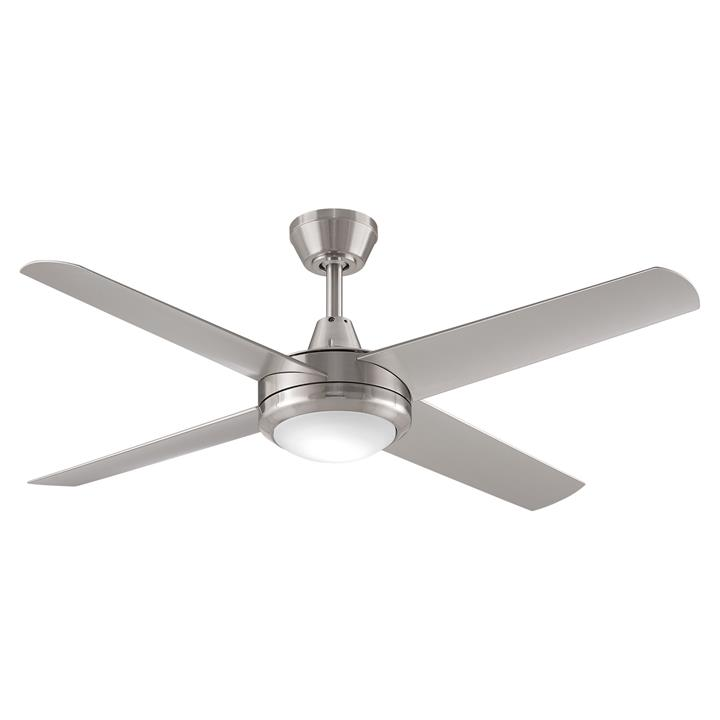 "Threesixty Aspire Ceiling Fan with LED Light, 132cm/52"", Brushed Nickel"