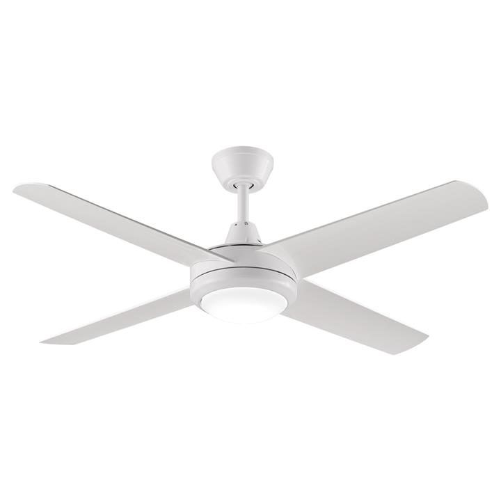 "Threesixty Aspire Ceiling Fan with LED Light, 132cm/52"", White"