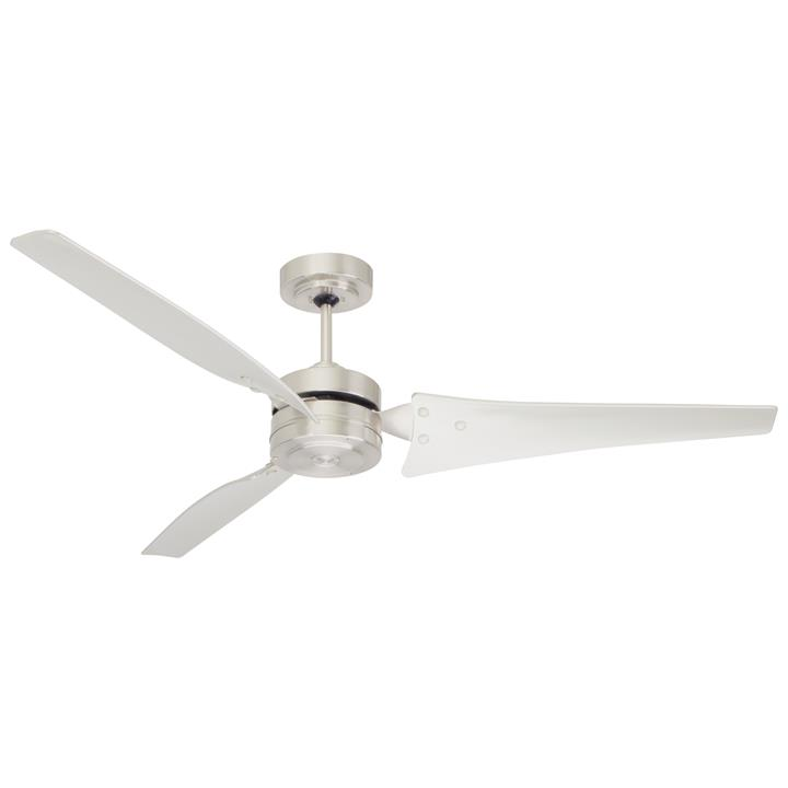 "Emerson Loft Ceiling Fan, 152cm/60"", Brushed Steel"