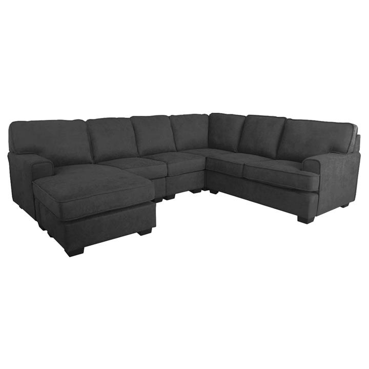 Element Fabric Corner Sofa, 4 Seater with Left Hand Facing Chaise, Black