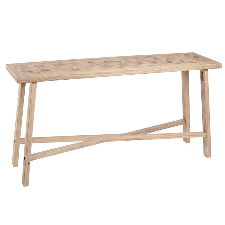 Braxton Handmade Elm Timber Decorative Console Table, 150cm