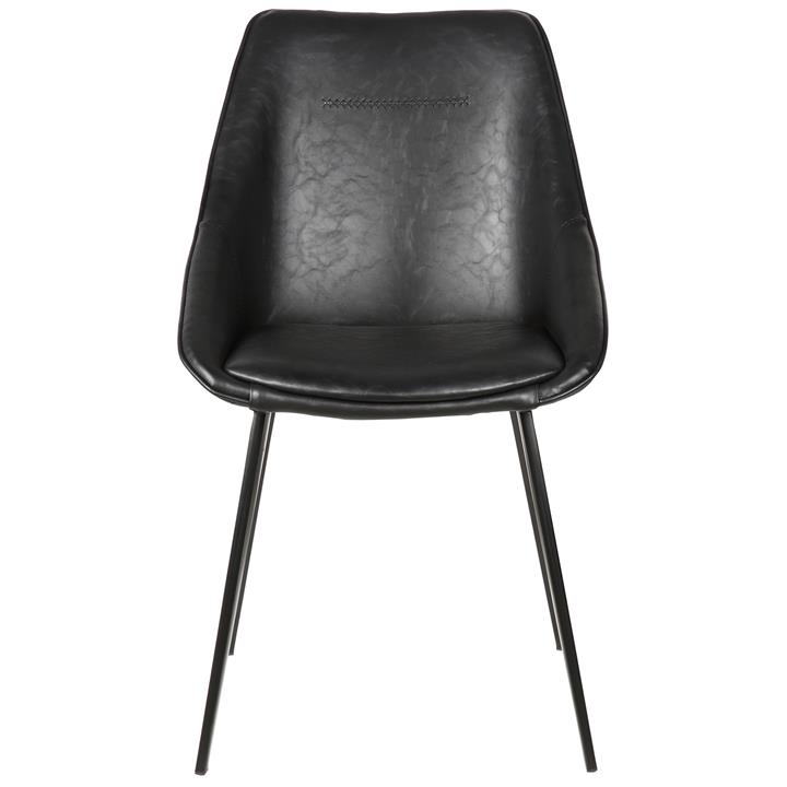 Bellagio Commercial Grade Faux Leather Dining Chair, Black