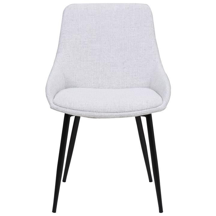 Como Commercial Grade Fabric Dining Chair, Light Grey