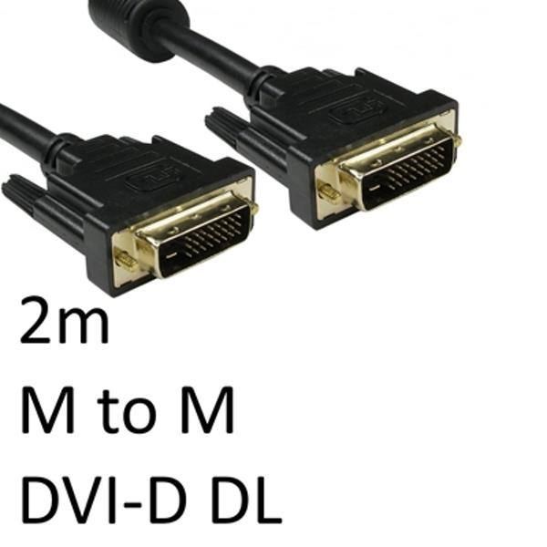 Image of Dvi-d Dual Link (m) To Dvi-d Dual Link (m) 2m Black Oem Display Cable