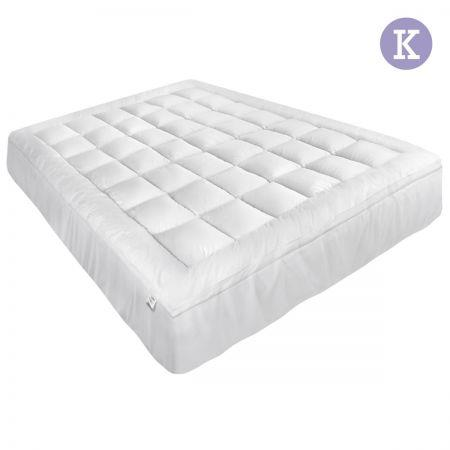 Image of Giselle King Mattress Topper Pillowtop 1000GSM Microfibre Filling Protector