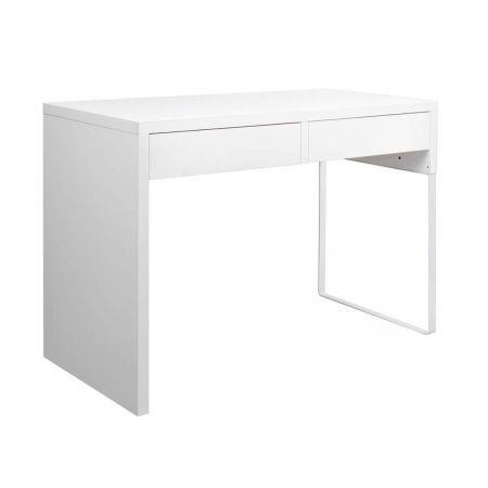 Image of Office Computer Desk Table with Drawers - White