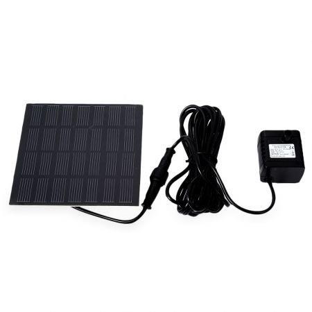 Image of 0712A Solar Power Panel Submersible Fountain Pond Garden Water Pump