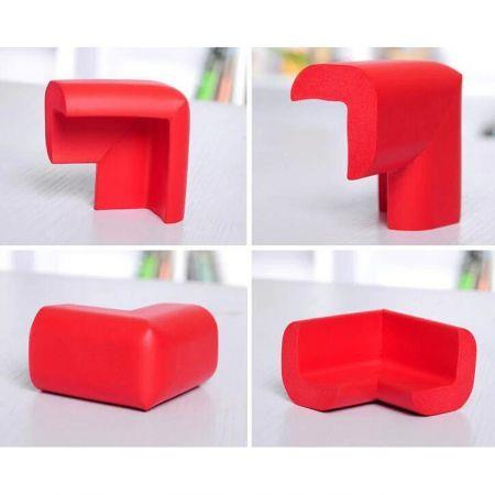 Image of 10 PCS Baby Kids Safety Anticollision Edge Corner protection Guards Cushions Bumper Red