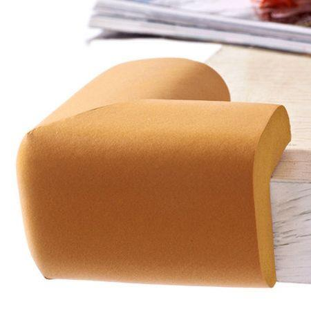 Image of 10 PCS Baby Kids Safety Anticollision Edge Corner protection Guards Cushions Bumper Wood Color