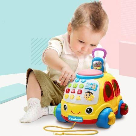 Image of Youleen Early Teaching Dragging Phone Intellectual Toy