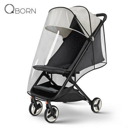 Image of QBORN PG06 Weather Shield Rain Cover for Foldable Baby Stroller