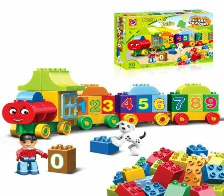 Image of 50PCS Learning and Counting Train Set Building Kit COMPATIBLE WITH LEGO My First Number Train 10847