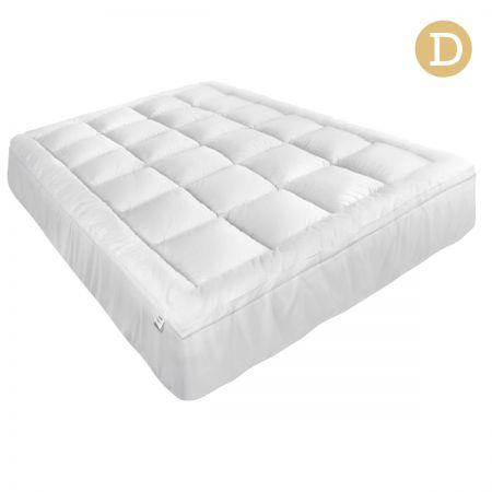 Image of Giselle Double Mattress Topper Pillowtop 1000GSM Microfibre Filling Protector
