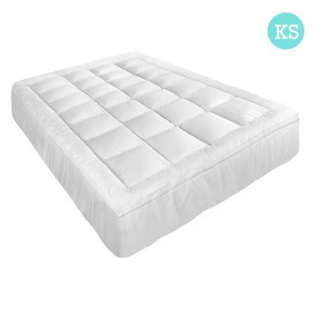 Image of Giselle King Single Mattress Topper Pillowtop 1000GSM Microfibre Filling Protector
