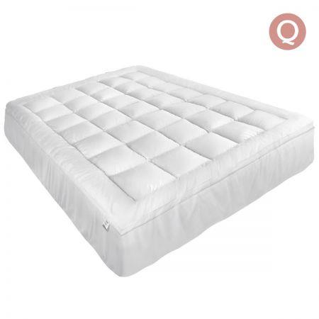 Image of Giselle Queen Mattress Topper Pillowtop 1000GSM Microfibre Filling Protector