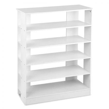 Image of 6-Tier Shoe Rack Cabinet White - Up to 30 Pairs