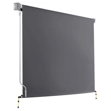 Image of 1.8m x 2.5m Retractable Roll Down Awning - Grey