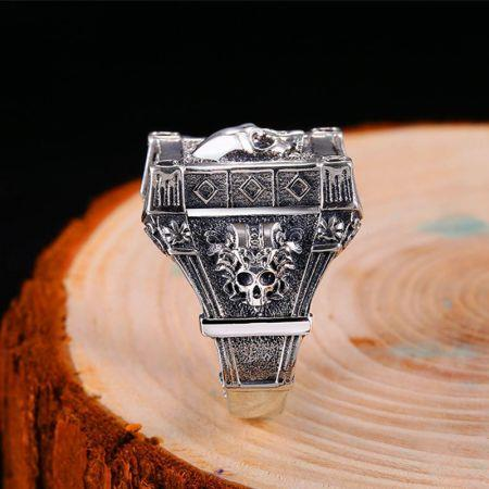 S925 sterling silver Gothic ring