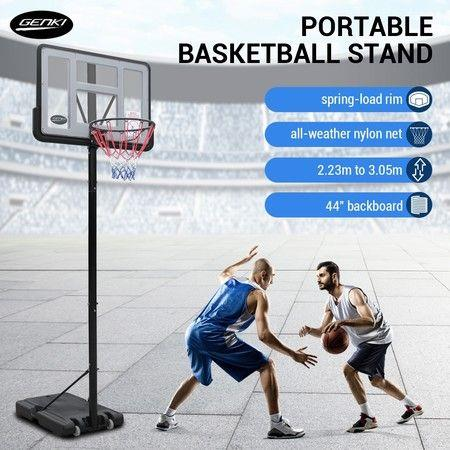 Image of 1.5-3.05M Portable Basketball Hoop Backboard System Stand Net Ring Set