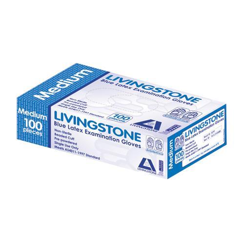 Image of Livingstone Premium Latex Examination Gloves Large 100pcs
