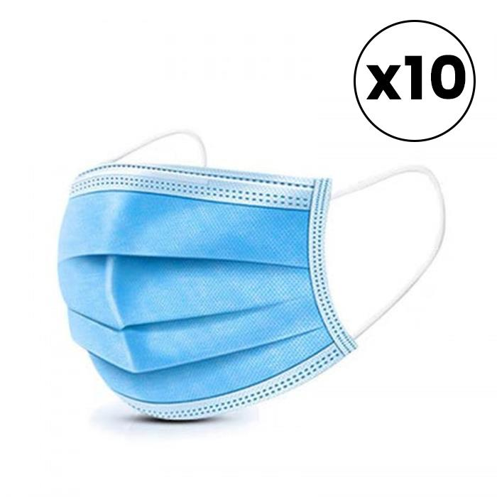 Image of Disposable Surgical Face Mask - 10pk