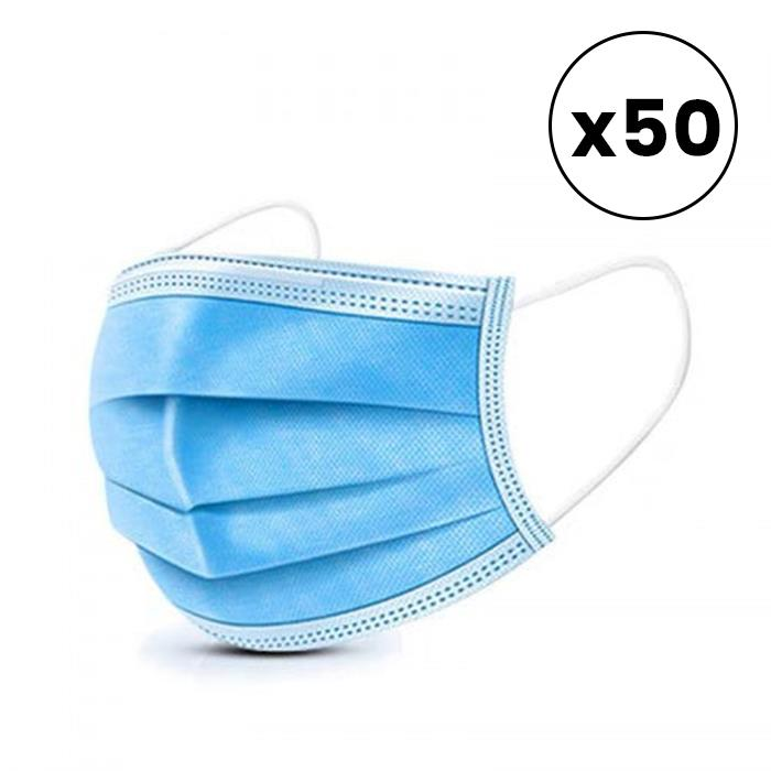 Image of Disposable Face Mask - 50 pack