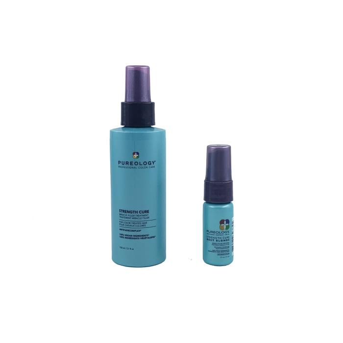 Image of Pureology Strength Cure Miracle Filler Treatment Travel Duo