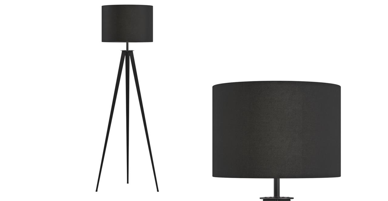 Capra Tripod Floor Lamp Matte Black