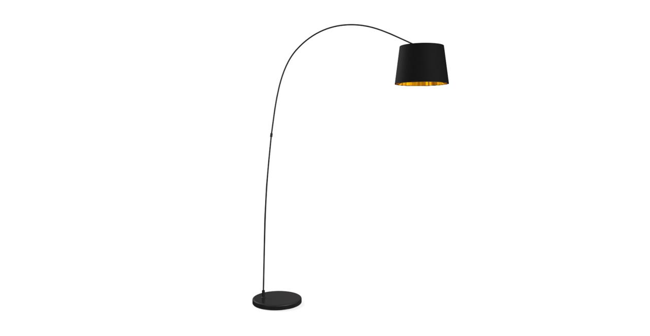 Leo Arc Floor Lamp Matte Black