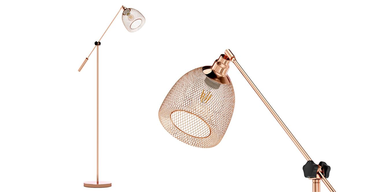 Virgo Floor Lamp Copper