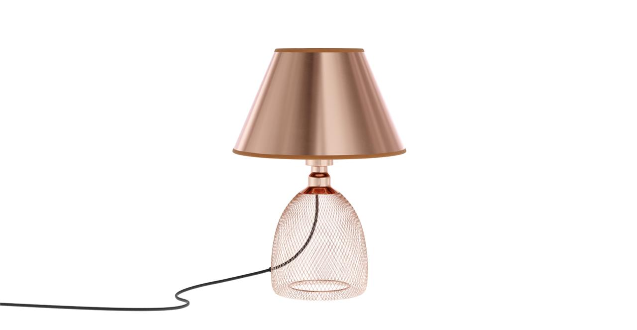 Virgo Table Lamp Copper Plated Steel