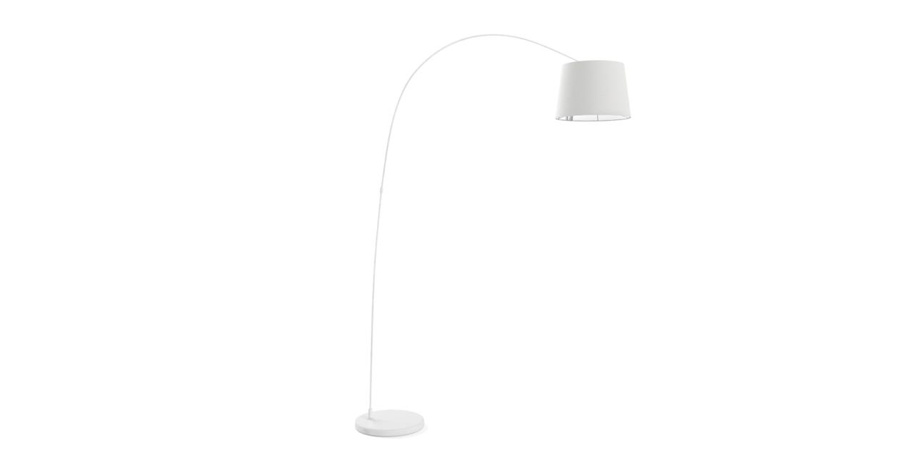 Leo Arc Floor Lamp Matte White