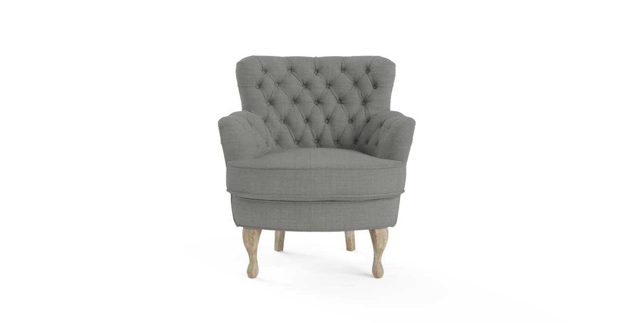 Image of Brosa Alessia Accent Chair Stone Grey