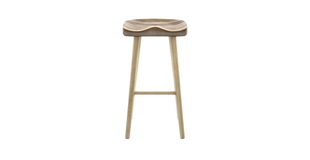 Adam Bar Stool Low Warm Ash