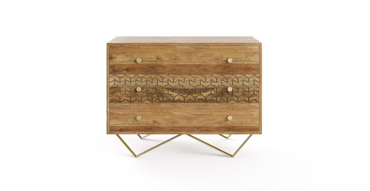 Image of Brosa Alpina Chest of Drawers Natural Mango Wood