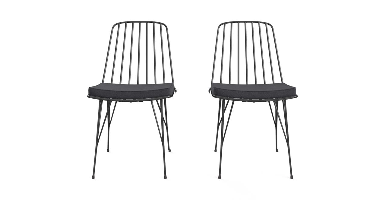 Smeaton Outdoor 2x Dining Chair Black - Outdoor Furniture - Compare Prices & Online Shopping Australia
