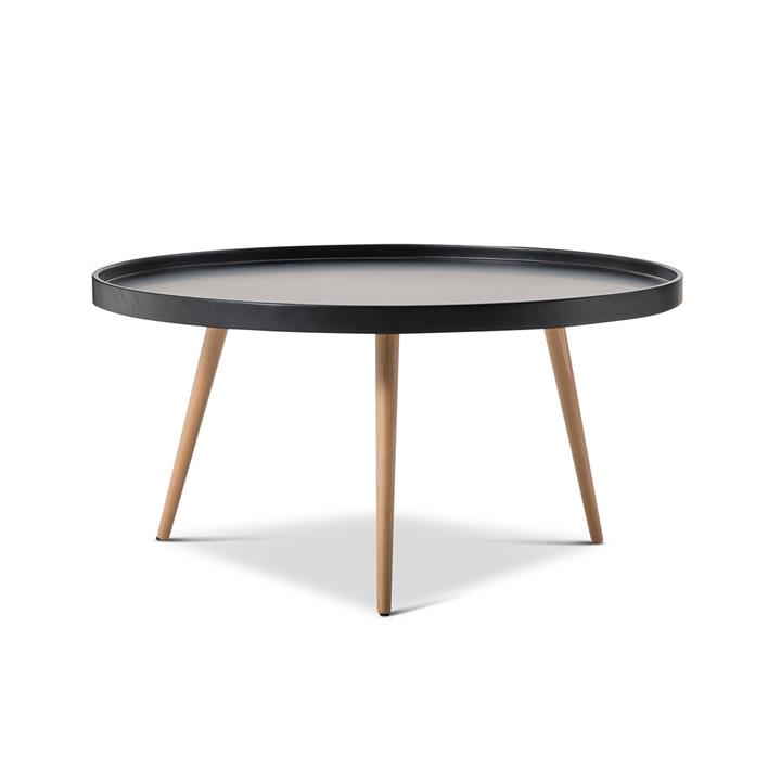 Beau Tray 88cm Round Coffee Table - Black by Interior Secrets - AfterPay Available