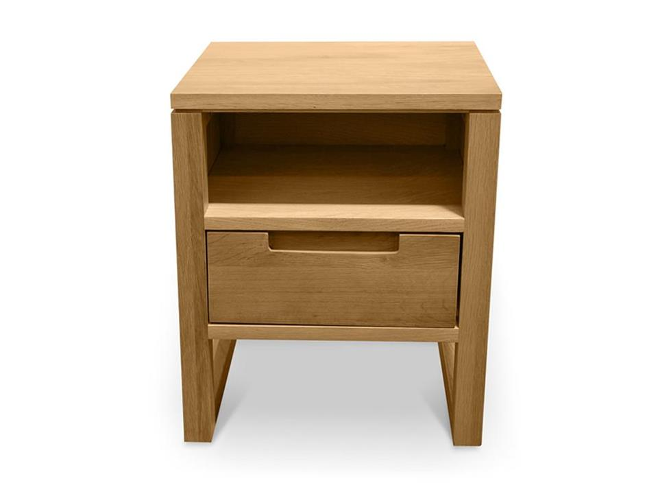 Alfred 1 Drawer Wooden Bedside Table - Natural Oak by Interior Secrets - AfterPay Available