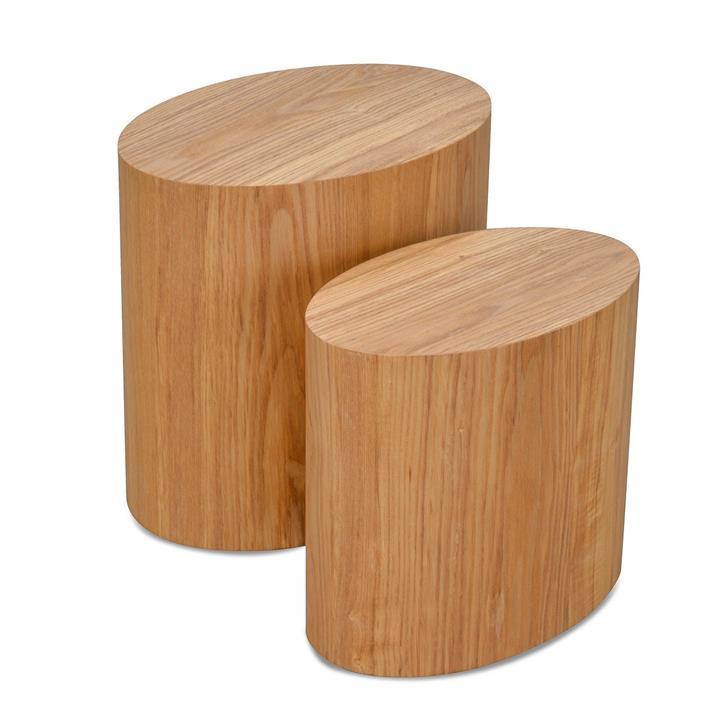 Albin Scandinavian Set of Tables - Natural