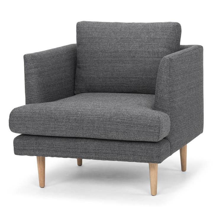 Denmark Armchair - Metal Grey by Interior Secrets - AfterPay Available