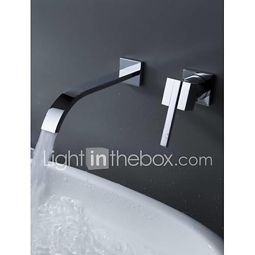 Bathtub Faucet - Contemporary Chrome Wall Mounted Ceramic Valve