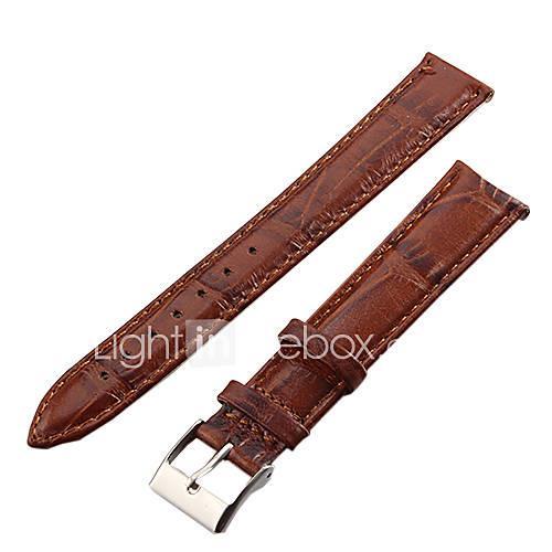 Unisex 18mm Crocodile Grain Leather Watch Band (Brown) Cool Watch Unique Watch Fashion Watch