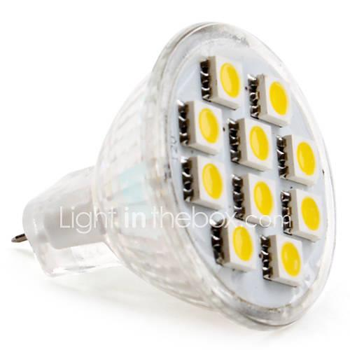 Image of 1.5 W 2800 lm GU4 LED Spotlight MR11 10 LED Beads SMD 5050 Warm White 12 V