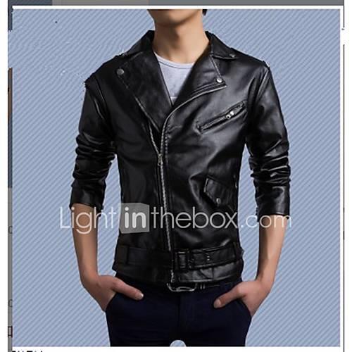 Men's Punk  Gothic Slim Jacket - Solid Color